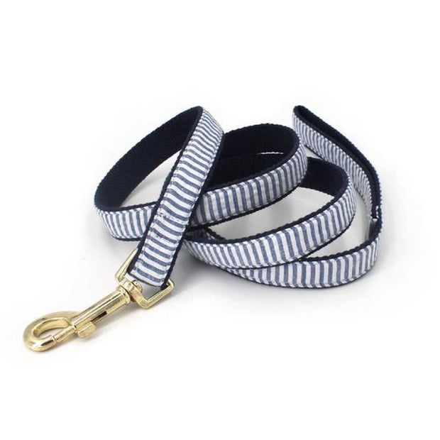 Blue Stripes Leashes - Sniff & Bark