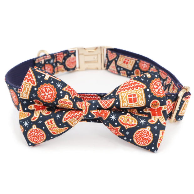 Gingerbread House Bow Tie Collar - Sniff & Bark