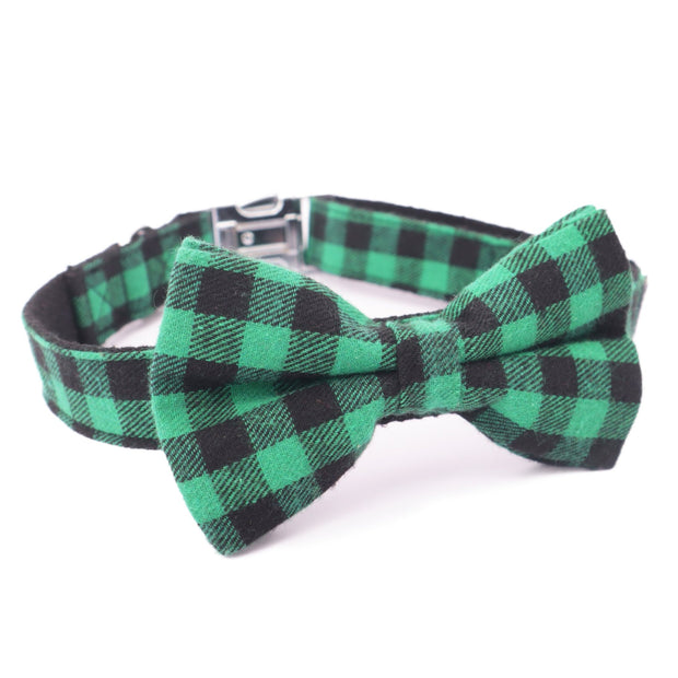 Holiday Green Bow Tie Collar - Sniff & Bark