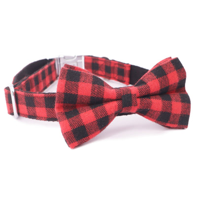 Holiday Red Bow Tie Collar - Sniff & Bark