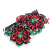 Holiday Red Flower Collar - Sniff & Bark