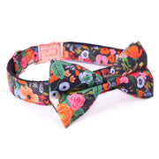 Midnight Floral Bowtie & Leash Set - Sniff & Bark