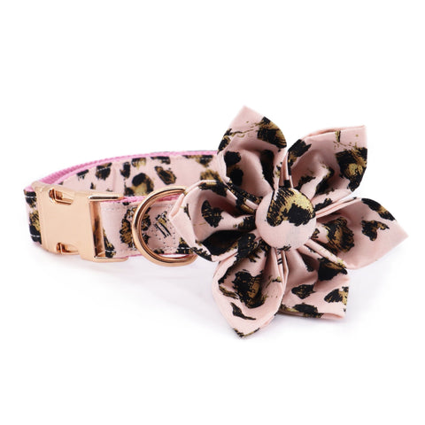 Pink Leopard Flower Collar - Sniff & Bark