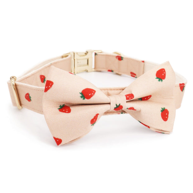 Strawberry Bow Tie Collar - Sniff & Bark