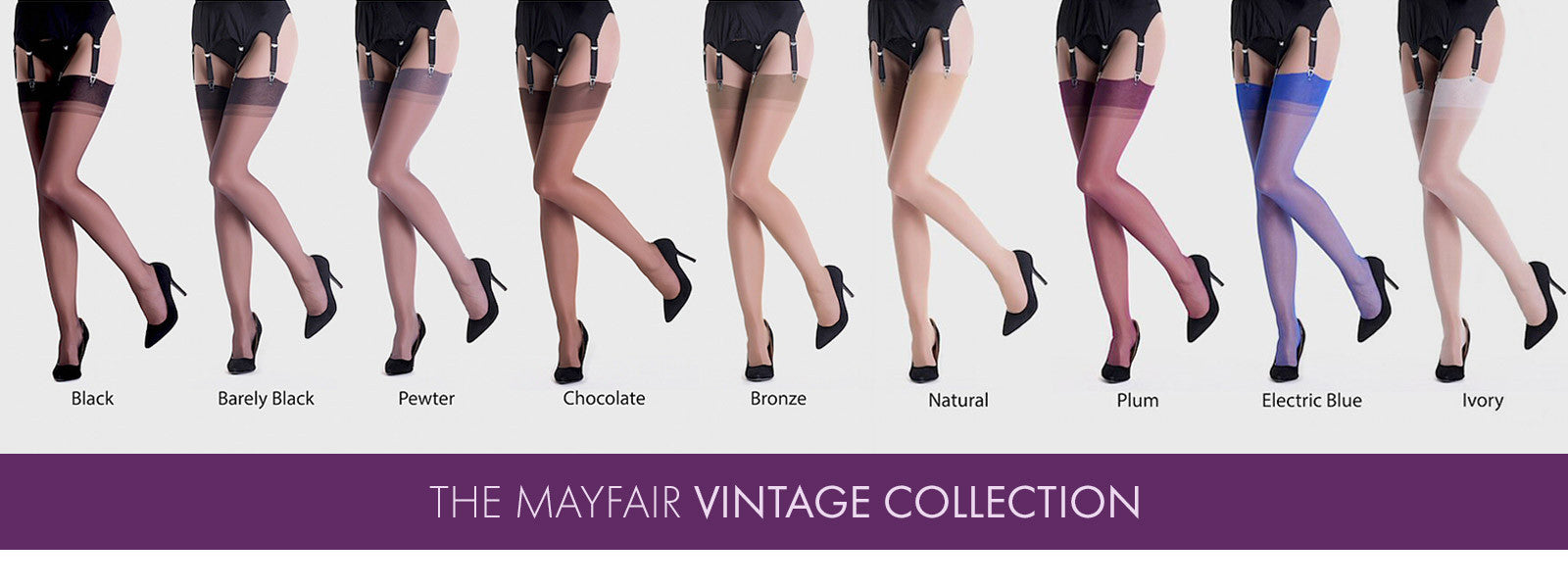 Vintage stockings from Mayfair Stockings