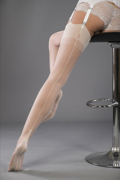 Ivory seamed stockings