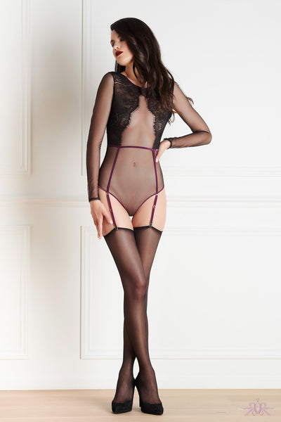 Maison Close Coup de Foudre Thong Body with Suspenders