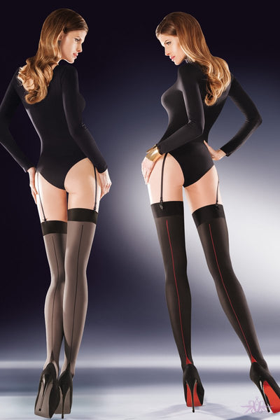 Seamed opaque stockings