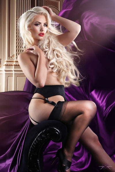 4 Strap Suspender Belt at Mayfair Stockings
