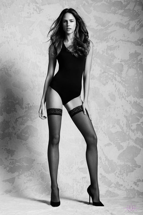 Black sheer hold ups