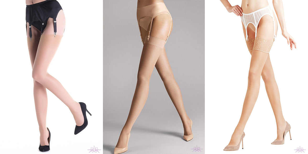 Summer stockings from Mayfair Stockings