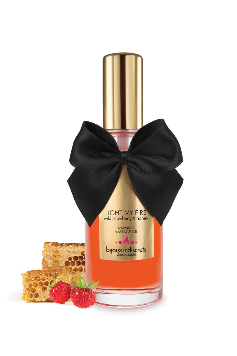 Bijoux Indiscrets - Warming Massage Oil Wild Strawberry
