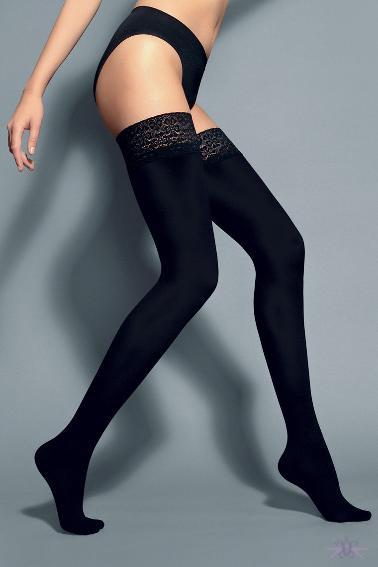 Veneziana Fiona 60 Opaque Hold Ups - Mayfair Stockings - Veneziana - Hold Ups - 1