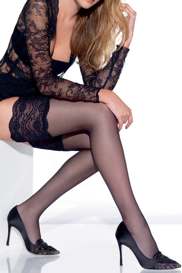 Le Bourget Jarretiere Dentelle Hold Ups - Mayfair Stockings
