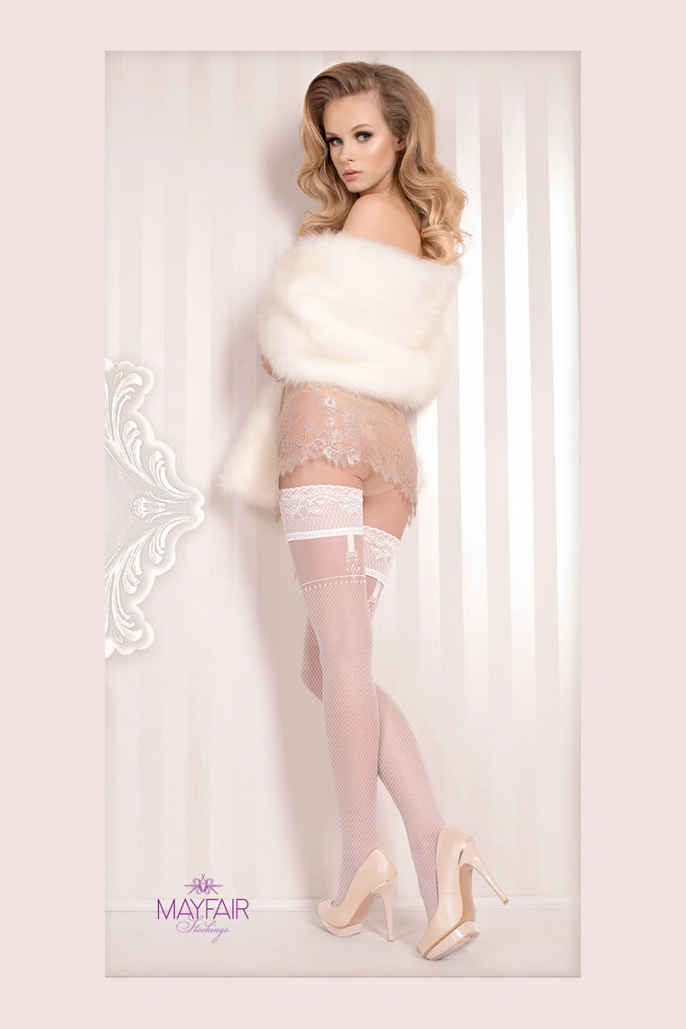 Ballerina Bridal Faux Suspender Hold Ups - Mayfair Stockings - Ballerina - Hold Ups - 1