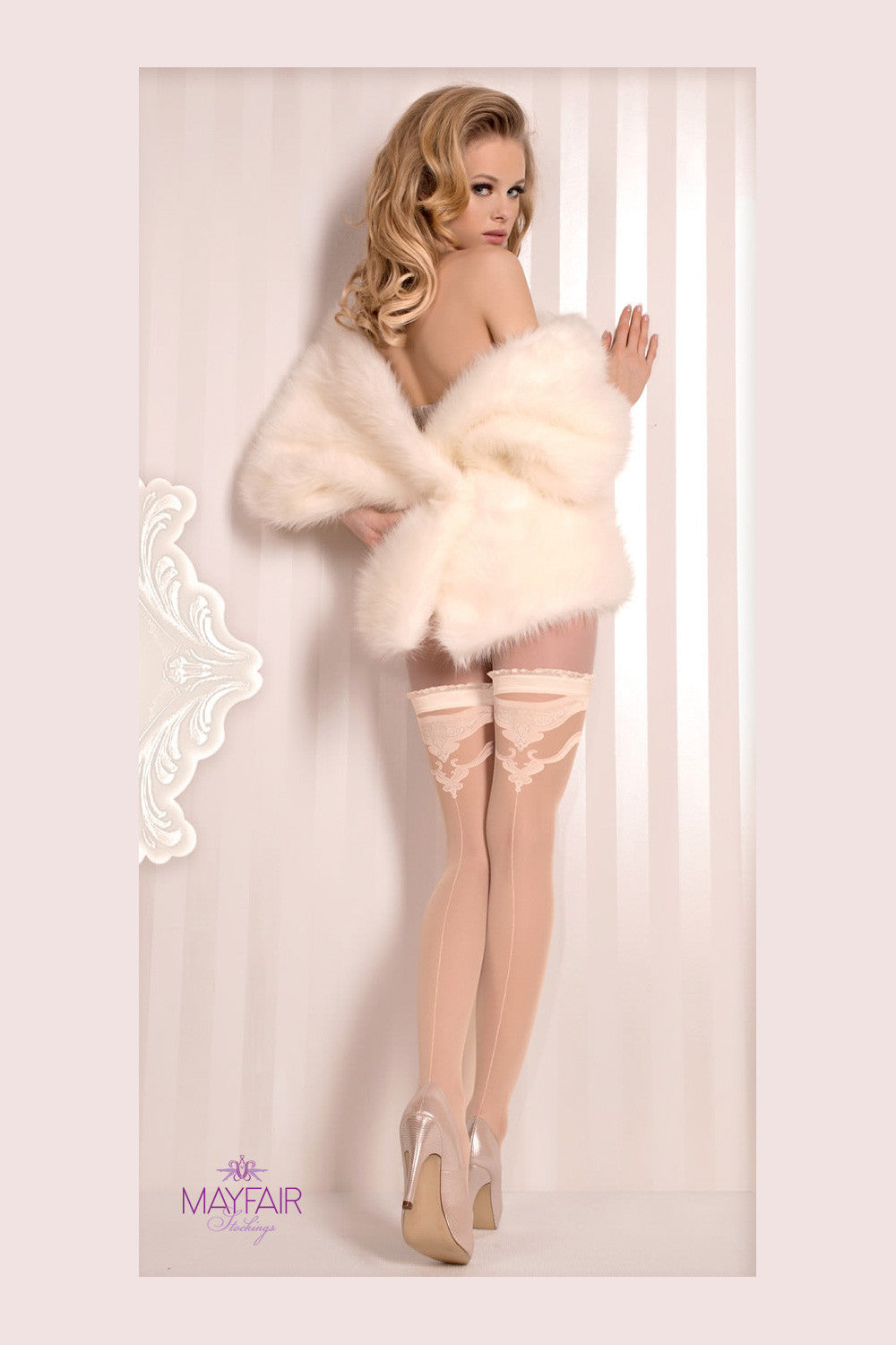 Ballerina Bridal Seamed Hold Ups - Mayfair Stockings