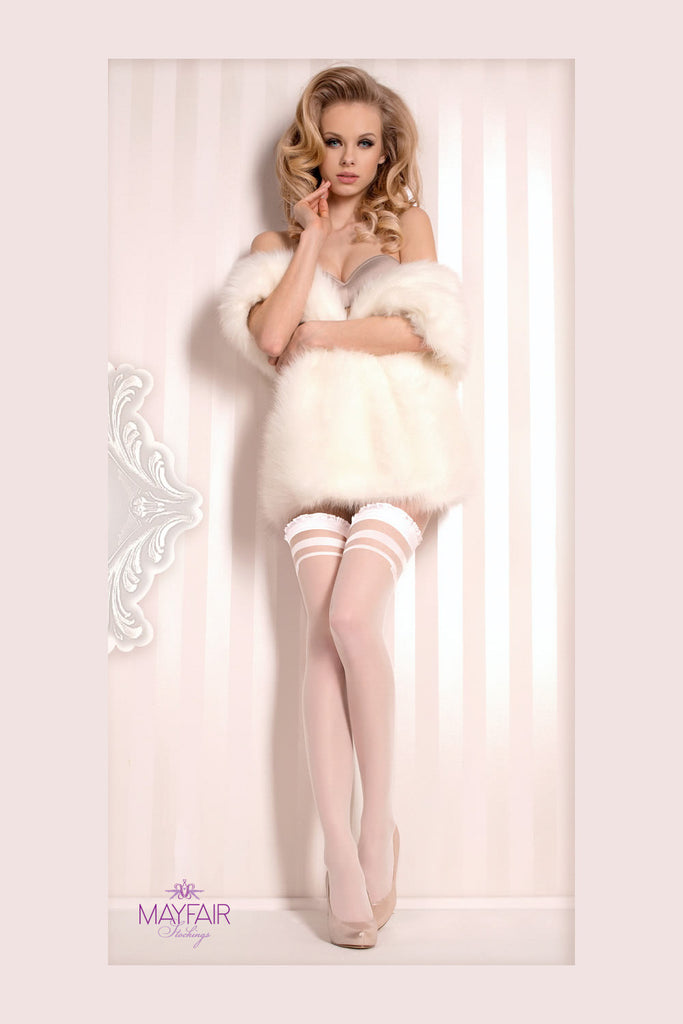 Ballerina Bridal Seamed Hold Ups - Mayfair Stockings - Ballerina - Hold Ups - 3