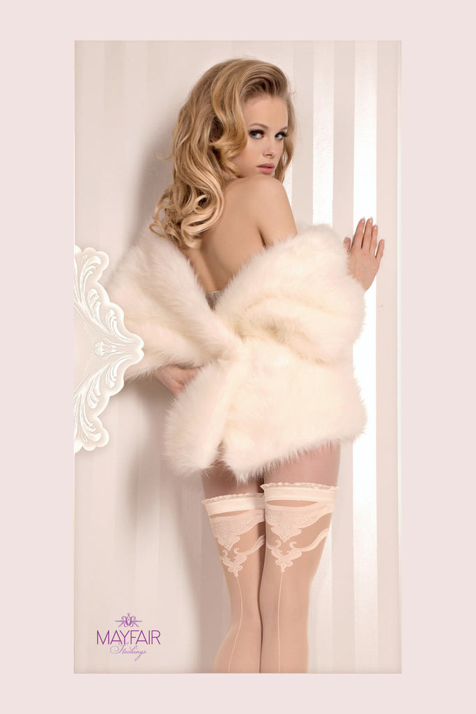 Ballerina Bridal Seamed Hold Ups - Mayfair Stockings - Ballerina - Hold Ups - 4