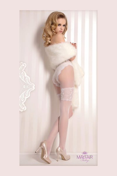 Ballerina Faux Hold Up Bridal Tights - Mayfair Stockings