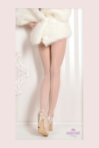 Ballerina Dotted Seam Bridal Tights - Mayfair Stockings - Ballerina - Tights - 1