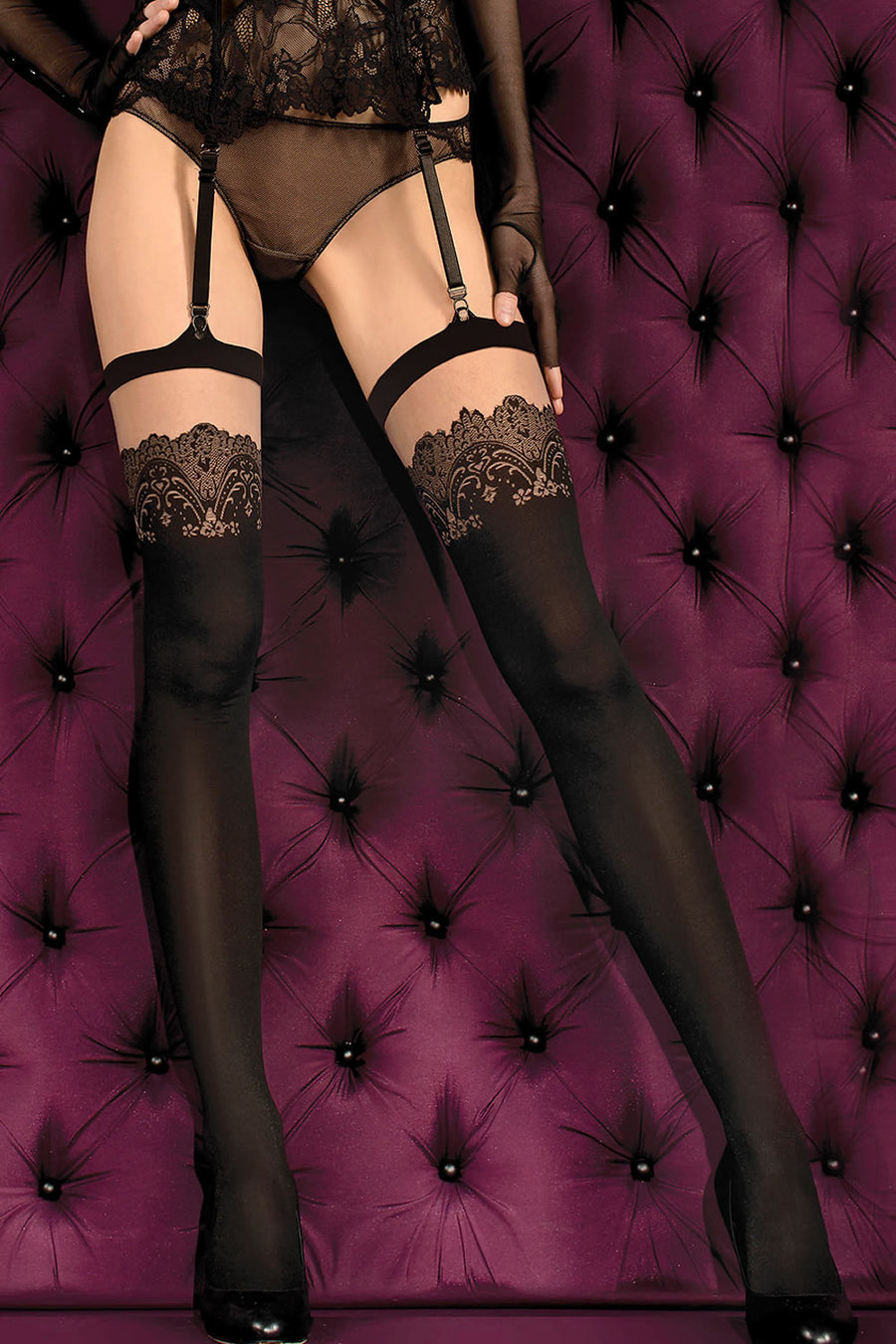 Ballerina Smeraldo Opaque Stockings - Mayfair Stockings