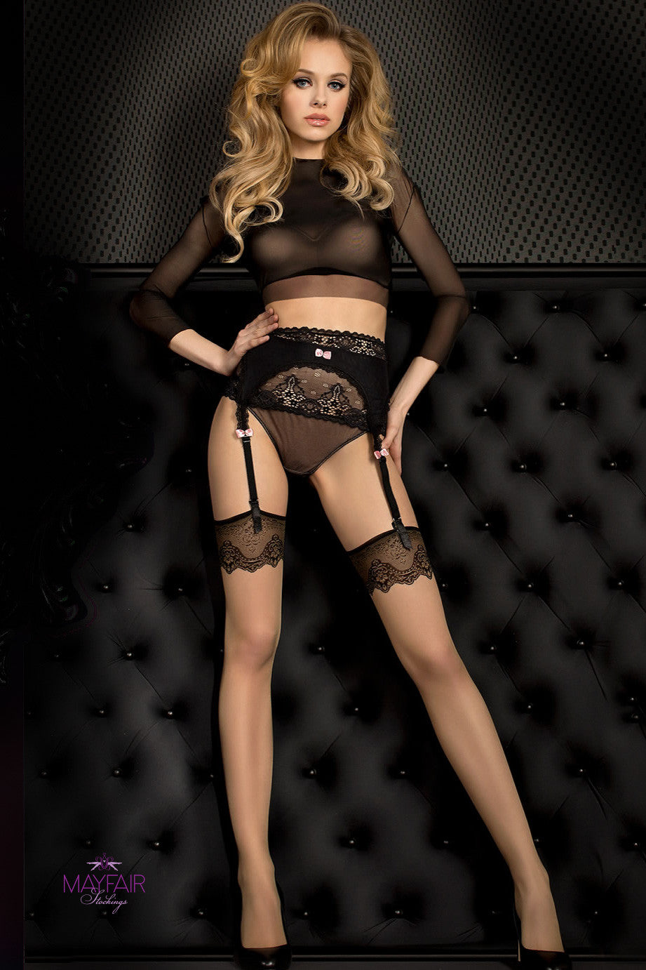 Ballerina Smeraldo Nude Stockings - Mayfair Stockings