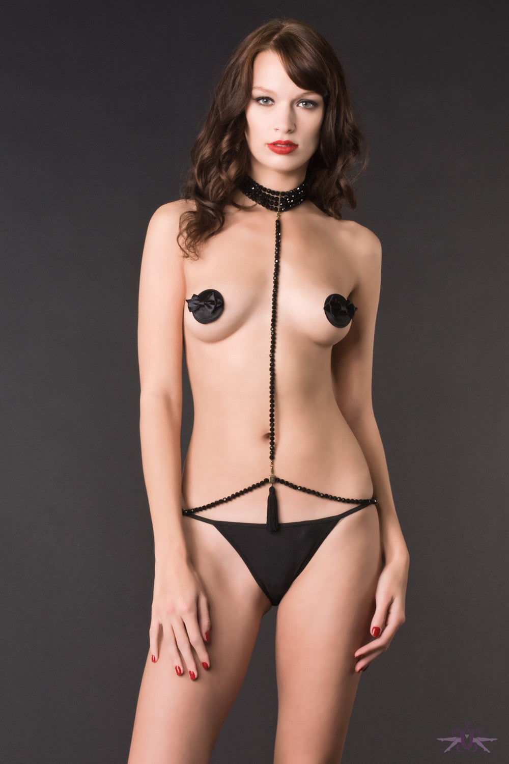 Maison Close A Ton Cou - Jet Pearl Harness