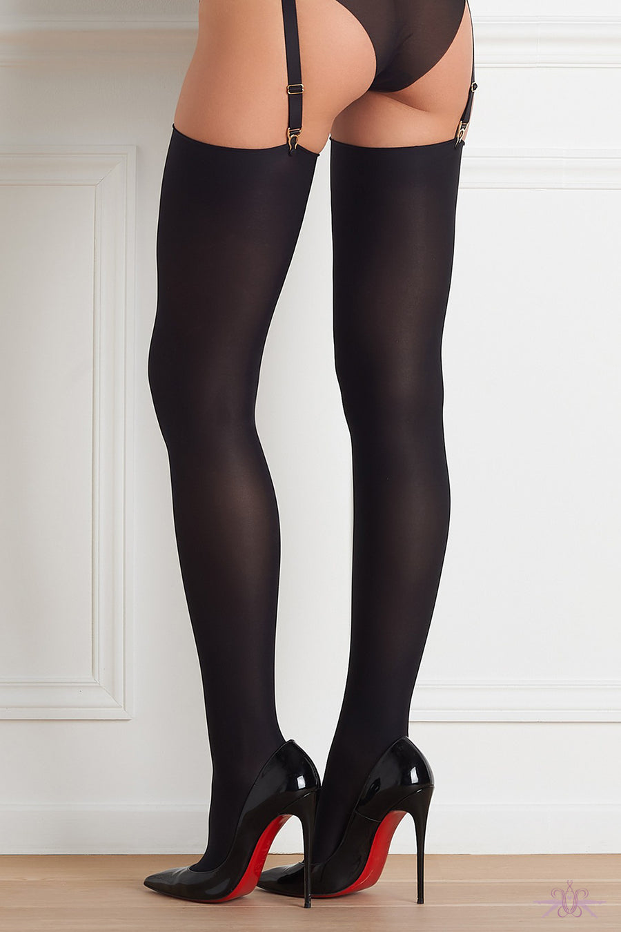 Maison Close Opaque Cut and Curled Stockings