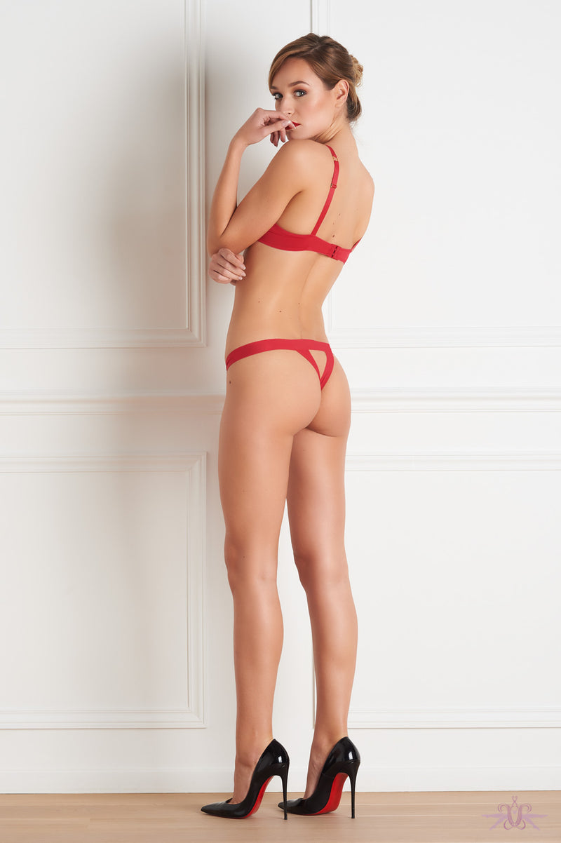 Maison Close Tapage Nocturne Red Openable Thong