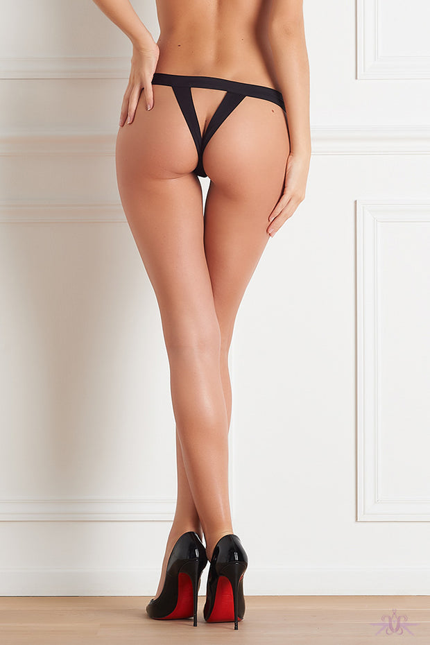 Maison Close Tapage Nocturne Black Openable Thong