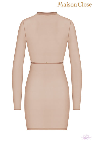 Maison Close Corps a Corps Nude Long Sleeved Dress