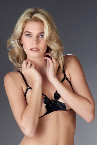 Maison Close Le Petit Secret Cupless Bra with Bow - Mayfair Stockings