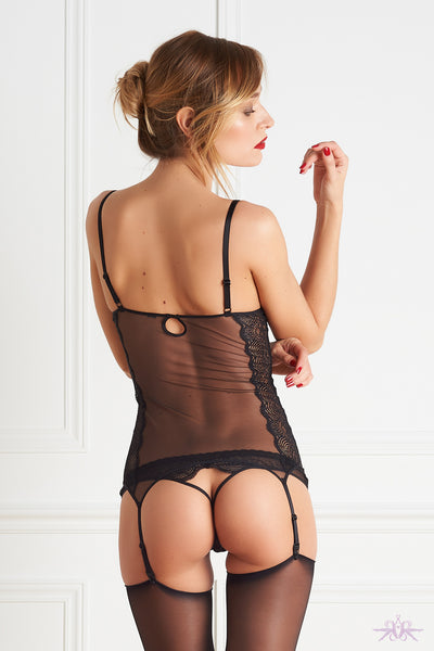 Maison Close La Directrice Naked Breast Bodice with Suspenders - Mayfair Stockings