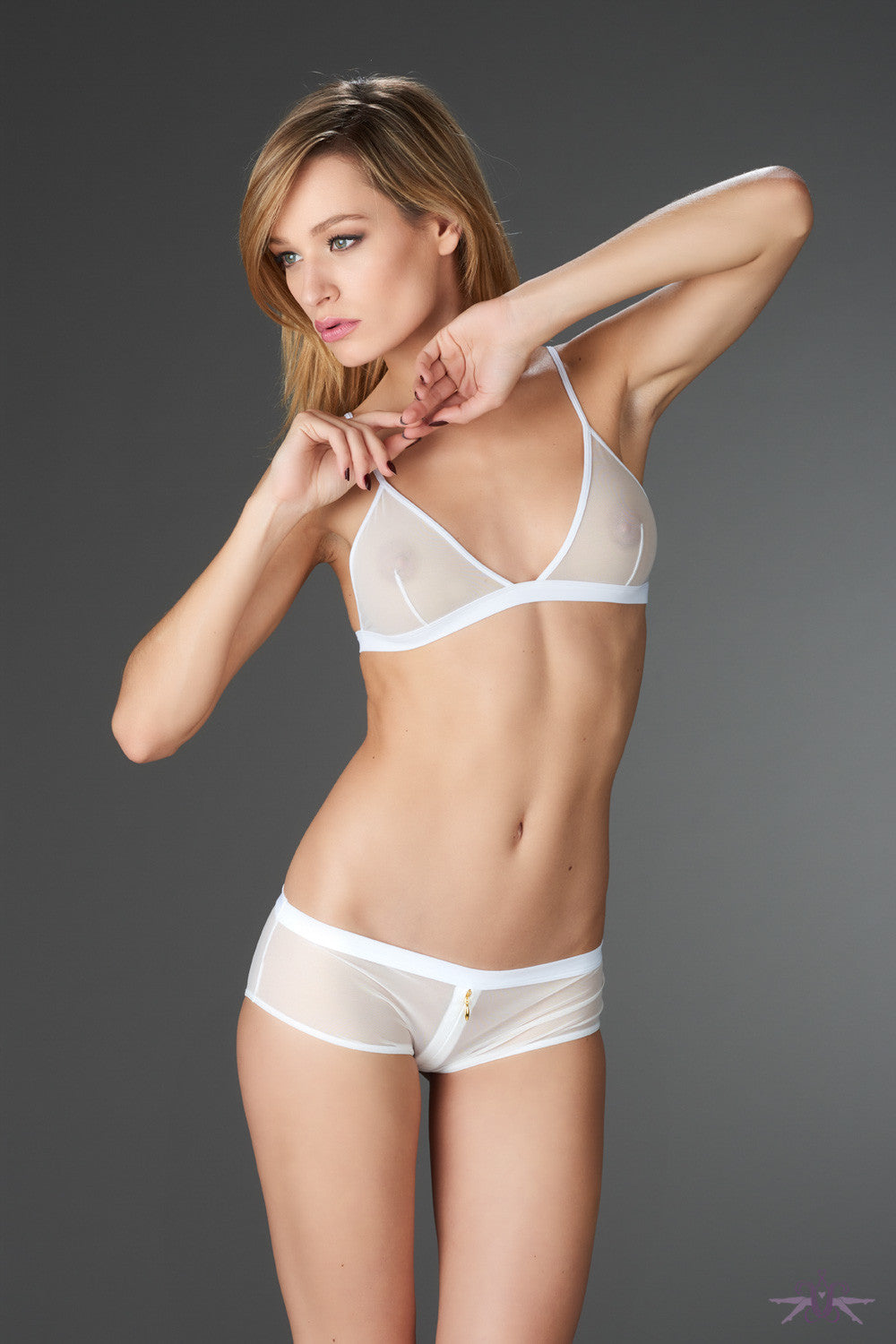 Maison Close Pure Tentation White Triangle Bra - Mayfair Stockings