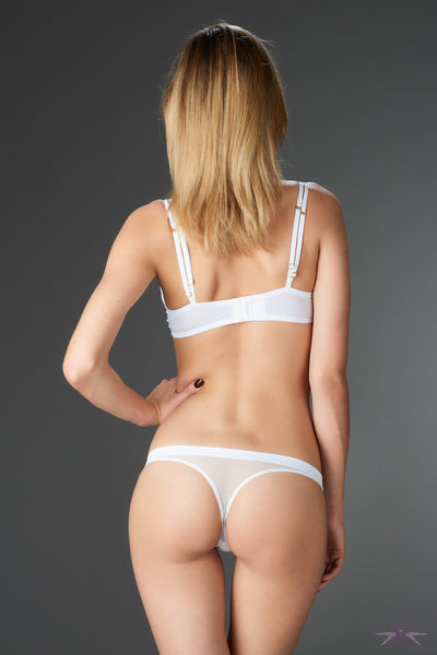 Maison Close Pure Tentation White Thong - Mayfair Stockings