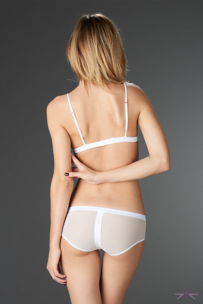 Maison Close Pure Tentation White Shorty with Zip