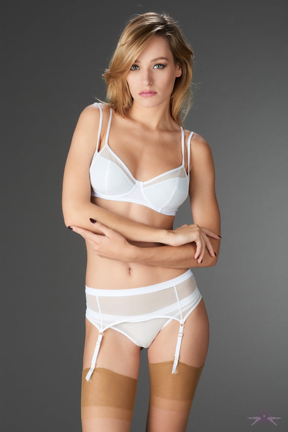 Maison Close Pure Tentation White Garter Belt