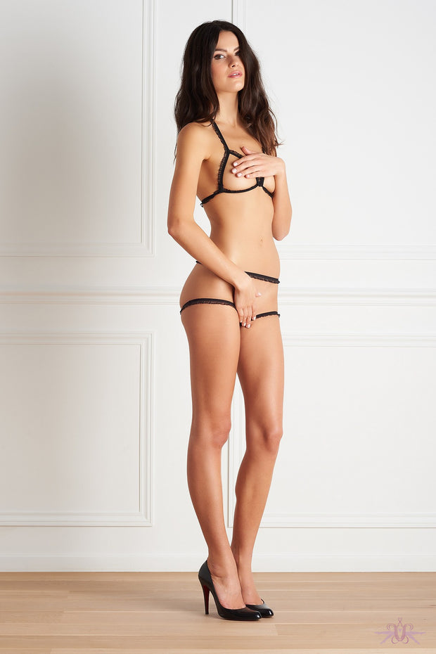 maison close le petit secret dentelle thong body mayfair stockings. Black Bedroom Furniture Sets. Home Design Ideas