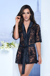 Mapale Black Lace Robe