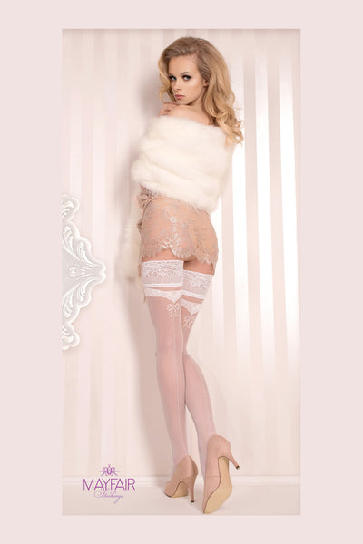 Ballerina Bridal Bow Hold Ups - Mayfair Stockings