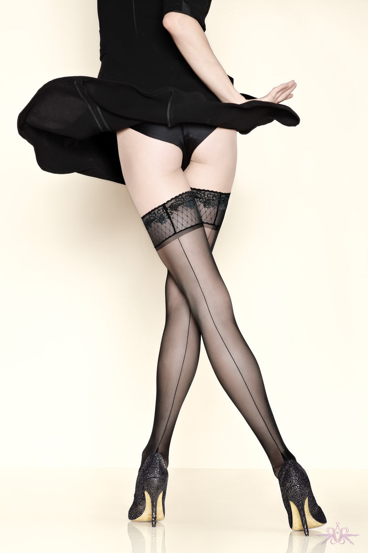 Gerbe Fatal 15 Seamed Hold Ups - Mayfair Stockings - Gerbe - Hold Ups - 1