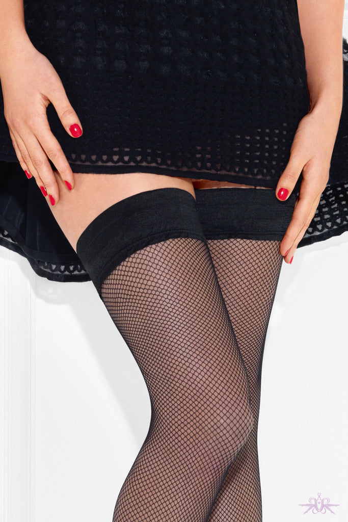 Le Bourget Resille Hold Ups - Mayfair Stockings - Le Bourget - Hold Ups - 3