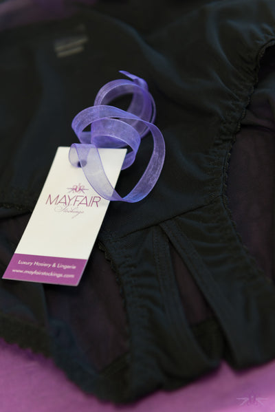 Mayfair Savannah Sheer Open Knicker - Mayfair Stockings