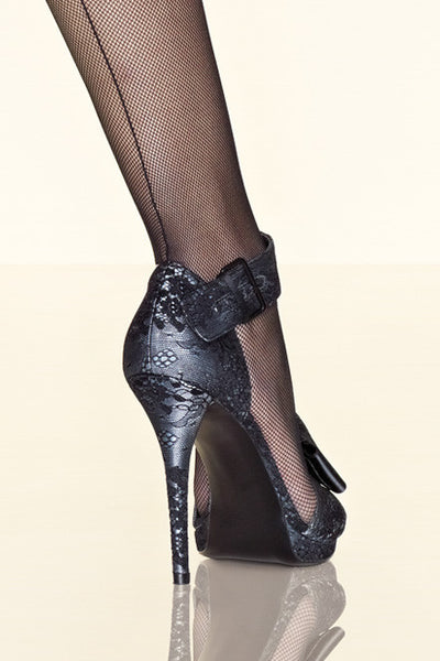 Gerbe Sevilla Seamed Fine Fishnet Tights - Mayfair Stockings