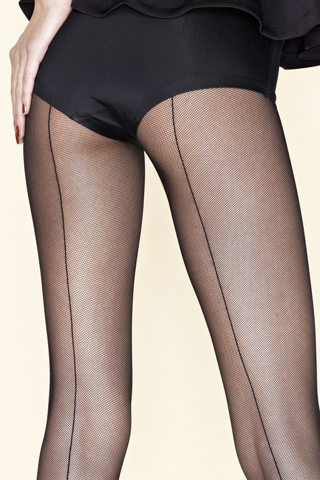 Gerbe Sevilla Seamed Fine Fishnet Tights