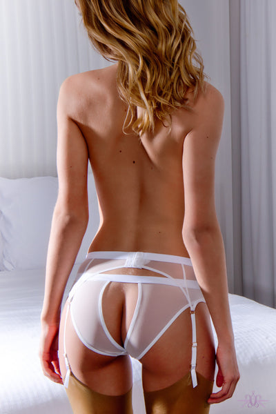 Maison Close Pure Tentation White Open Panty - Mayfair Stockings