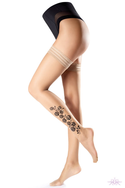 Oroblu Rose Hold Ups - Mayfair Stockings