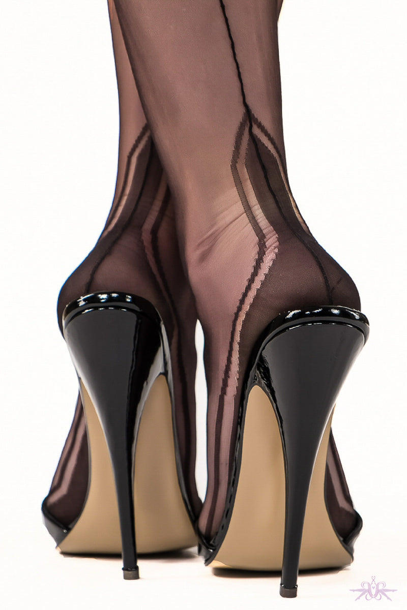Gio Manhattan Heel Fully Fashioned Stockings - Mayfair Stockings