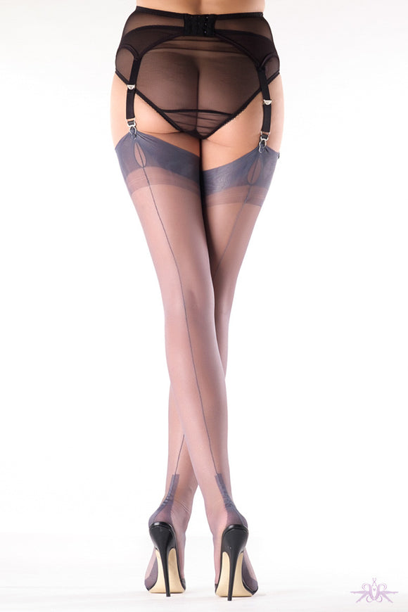 Gio Cuban Heel Fully Fashioned Stockings - Mayfair Stockings - Gio - Stockings - 2