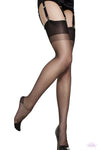 Gio Reinforced Heel and Toe Nylon Stockings - Mayfair Stockings